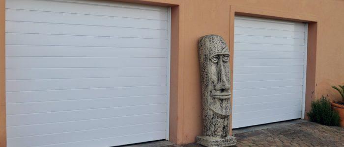 White Slate Aluminium Garage Door