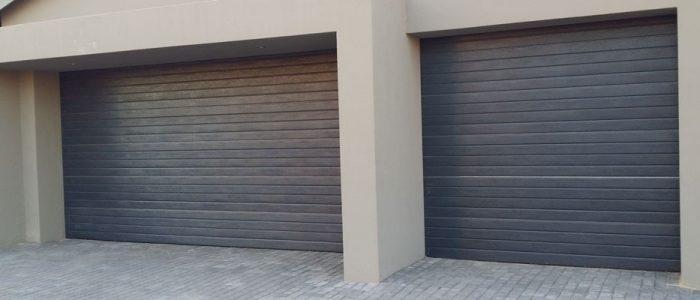 Grey Aluzinc Garage Doors