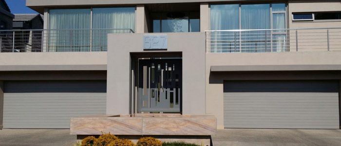 sandstone aluminium garage doors